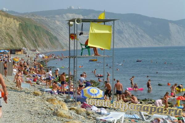 Пляж Высокий берег 18 августа 2013г.