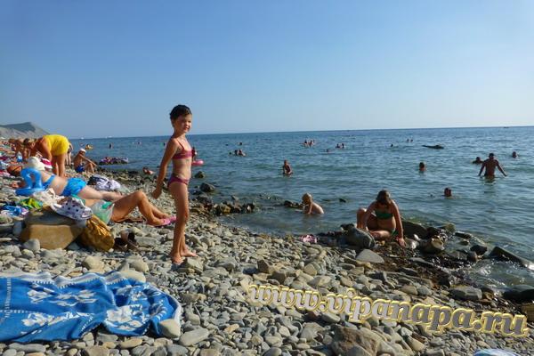 Анапа пляж Высокий берег 22 августа 2013г.